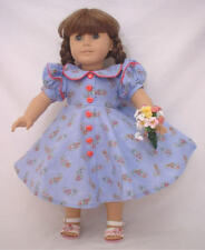 "Lavender and Pink Floral Dress 4pc Set Fits 18"" American Girl DollsLavender and"