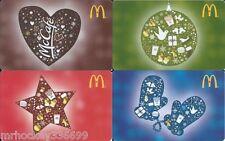 2015 McDonald's CANADA Mc Cafe Holiday 4 PK collector GIFT CARD (ncv) Bilingual
