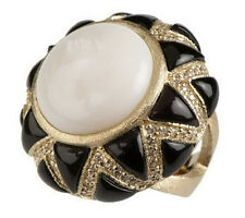 Rivka Friedman Inlay Gemstone Ring with Simulated Accents Size 9 QVC $99