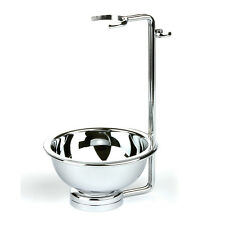 Edwin Jagger Double Wire Chrome Shaving Stand for Brush & Razor and Bowl DWSRBB