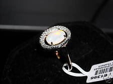 14kt Mintabie Jelly Opal/Diamond Yellow Gold Ring #61396 SIZE 7  Beautiful color