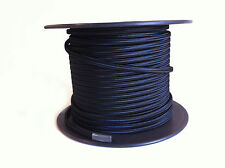 Black Parallel Fabric Covered Wire, Antique Vintage Cloth Flat Cord, 100ft Spool
