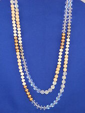 "Guess Natural Selection 60"" Long Multi Bead Necklace"