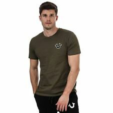 Men's True Religion Buddha Logo Regular Fit Cotton T-Shirt in Green