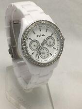 Fossil Women's Stella Multifunction White Resin Bracelet Watch ES1967