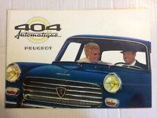 Brochure  PEUGEOT 404 AUTOMATIQUE    - Prospectus French Prospekt  -CA112/61