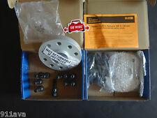 H & R PORSCHE 996 997 991 WHEEL SPACER (2) SET 14 mm & 14 mm SILVER 100 % GERMAN