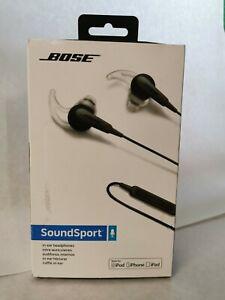 Bose SoundSport In-Ear Apple Headphones Charcoal Black 741776-0010