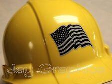 Black Ops American Flag Hard Hat Sticker   USA Flags Tactical Gear Helmet Decal