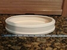 Ceramic Bisque Japanese Oval Bonsai Pot, 10x 5x 2 in. Ready to Paint