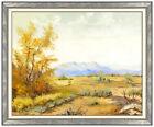 William Posey Silva Original Malerei Öl auf Leinwand Signiert Western Landschaft