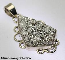 SILVER DRUZY PENDANT 925 STERLING SILVER ARTISAN JEWELRY COLLECTION Y222B