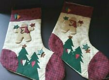 CHRISTMAS STOCKING sock holiday decor toys gingerbread man armchair shopper