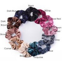 12 Pack Velvet Hair Scrunchies Hair Ties Elastic Hair Bands Ropes for Women Girl