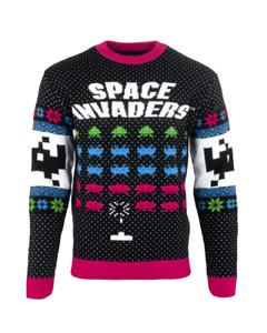 Officiel numskull Noël Pull Space Invaders UK : M / US:S NEUF