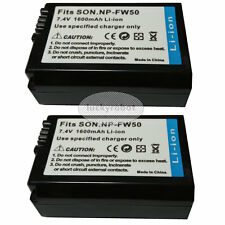 2X new NP-FW50 Battery for Sony A7S A7R a6100 NEX 6 5R 5N 5T 3N NEX-7 Camera
