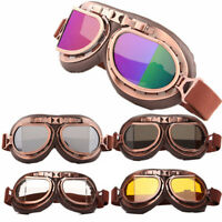 EE_ MEN WOMEN RETRO MOTORCYCLE SPORTS FLYING GOGGLES PILOT SKI GOGGLE GLASSES SU