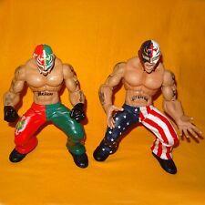 """2005 JAKKS WWE World Wrestling Ring Giants Rey Mysterio 14"""" MODELLINO FIGURE LOTTO"""
