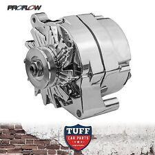 Ford F100 F250 F350 V8 302 351 Proflow Alternator 100 AMP Chrome Plated Ext Reg