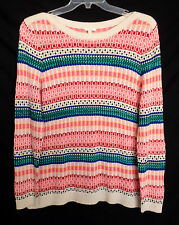 New $79 Talbots Outlet XL Fair Isle Pullover Tunic Top Sweater Cotton 16051303ys