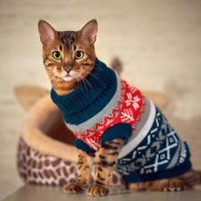 Christmas Cat Sweater Knitwear Jumper Coat for Small Cat Dog XS S M L XL XXL