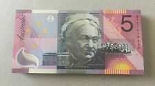 AUSTRALIAN $5 CENTENARY OF FEDERATION BUNDLE OF 100 NOTES B 101538430 TO 8529