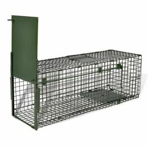 Humane Live Catch Trap Steel Handy Size Fox Cat Mesh Cage Rodent With 1 Door New