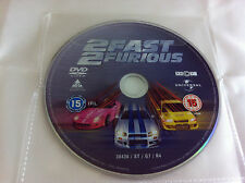 2 Fast 2 Furious Movie - DVD R2 Film 2003 - DISC ONLY in Plastic Sleeve