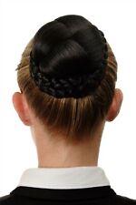 Dutt Haarteil aufwendig geflochten Haarknoten Tracht Braun Dunkelbraun N796-3