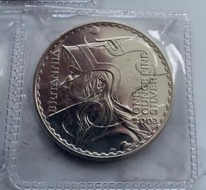 GB ROYAL MINT £2 BRITANNIA 1OZ 2003 SILVER COIN SUPERB QUALITY