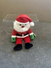 TY Beanie Baby Santa in Display Case
