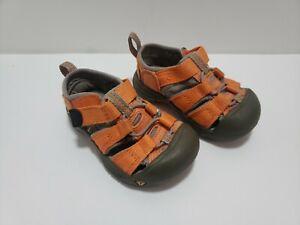 KEEN Newport H2 Orange Toddler Hiking Water Sandals Shoe Size 5