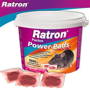 Frunol Delicia 1005g Ratron Pasten Power-Pads 29 ppm Rattengift Garage Schuppen