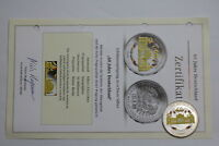 GERMANY 60 YEARS COLOURED MEDAL 2009 WITH COA A73 BXQUEEN79