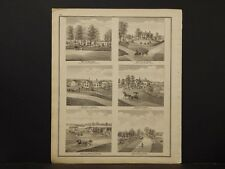Ohio Trumbel County Map 1874 Engravings, Res of R.W. Crane K4#50