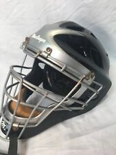 Macgregor 7 - 7 5/8 Size Catchers Mask Helmet Black Silver