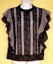 Victoria's Secret MULTI-COLOR Flounce Silky Soft Dress Top Blouse Sz S