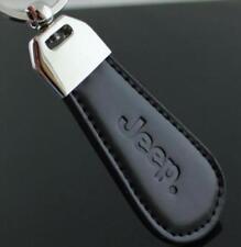 Black PU Leather Drop Keyring For Jeep auto Car Logo Key Ring Keychain Gift