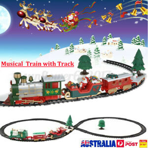 Christmas Electric Musical Train Track Set Carriage Kids Toys Xmas Gift AU