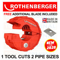 Rothenberger Plasticut PRO Pipe Cutter cuts 15mm & 22mm Hep20 Speed Fit Polypipe