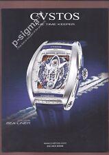 CVSTOS Challenge Sea-Liner Watch Print Ad # 139 2