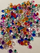 SPECIAL:  400 Assorted Size And Color Acrylic Crystals 2 mm - 10 mm