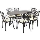 Metal Cast Aluminium 7 Piece Garden Furniture Table Patio Set With Cushions