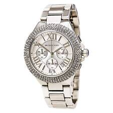 Michael Kors MK5634 Women's Sport Camille Chronograph Silver Dial Steel Watch