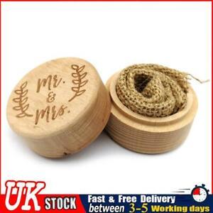 Rustic Wedding Wood Ring Box Holder Jewelry Customized Bearer Box (JM01535) ✧