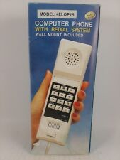 Vintage Computer Phone Model ELOP15 With Redial System + Wall Mount