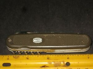 """Vintage camping utility knife,Victorinox """"Mauser"""",multi-tool,saw,opener,punch"""