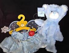 NWT Build A Bear WINTER sparkly Blue Friend Fur all Seasons & fairy dress 2007