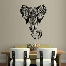 Wall Vinyl Sticker Decal Ganesh Om Elephant Tattoo Head Mandala Tribal (Z2440)
