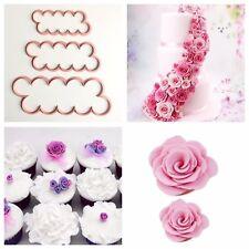 Formine Rose Petali Cake Cutter Fondente COOKIE CUTTER Set 3 Pezzi